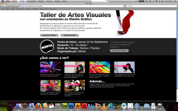 Taller de Artes visuales orientado al diseño gráfico