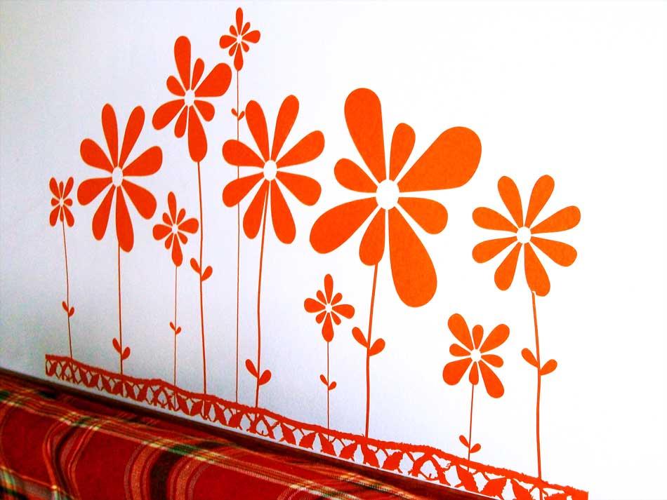 Flores menta for Disenos de vinilos