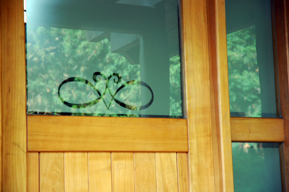 Particular esmerilado de ventanas menta - Vinilos para entradas ...
