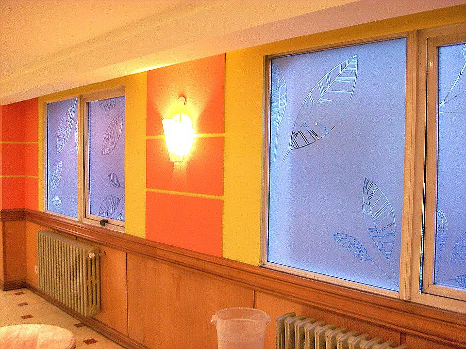 Restaurant nahuel huapi vinilo esmerilado para ventanas - Vinilos para ventanas ...