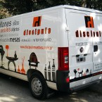 Ploteo vehicular de camioneta utilitario